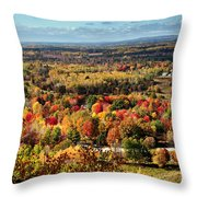Autumn Glory Landscape Throw Pillow