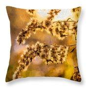 Autumn Goldenrod - Paint  Throw Pillow