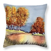 Autumn Golds Throw Pillow