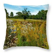 Autumn Golf Throw Pillow