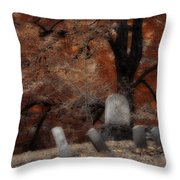 Autumn Graveyard Throw Pillow