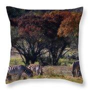 Autumn Grazing Throw Pillow