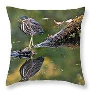Autumn Green Throw Pillow