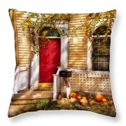 Autumn - House - A Hint Of Autumn  Throw Pillow
