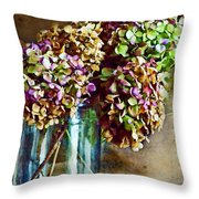 Autumn Hydrangeas Photoart Throw Pillow