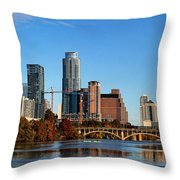 Autumn In Austin Throw Pillow