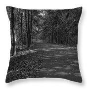 Autumn In Black And White Throw Pillow