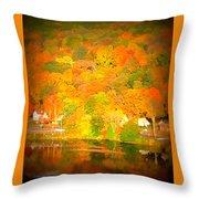 Autumn In Collinsville Connecticut  Throw Pillow