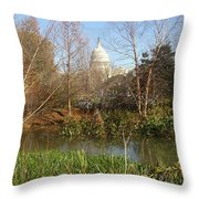 Autumn In Washington Dc Throw Pillow