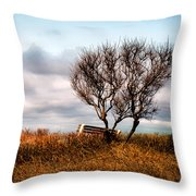 Autumn In Maine Throw Pillow by Bob Orsillo