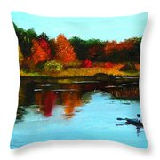 Autumn In Michigan Throw Pillow