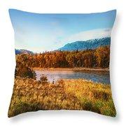 Autumn In Montana Throw Pillow