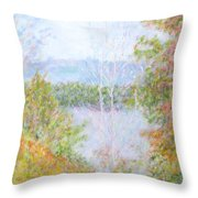 Autumn By The Lake In New Hampshire Throw Pillow
