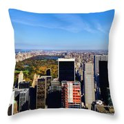 Autumn In New York City Throw Pillow