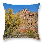 Autumn In Palo Duro Canyon 110213.119 Throw Pillow