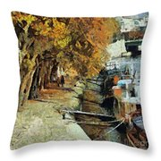 Autumn In Paris Throw Pillow