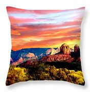 Autumn In Red Rock State Park Throw Pillow