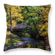 Autumn In Stillwater Throw Pillow