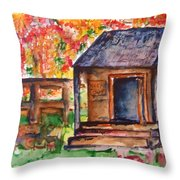 Autumn In The Backwoods Throw Pillow
