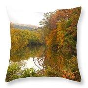 Autumn In The Butternut Valley-five Throw Pillow