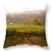Autumn In The Butternut Valley-six Throw Pillow