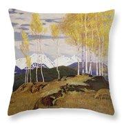 Autumn In The Mountains Throw Pillow