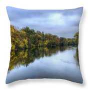 Autumn In The River Throw Pillow