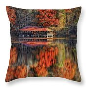 Autumn In The Smokey's Throw Pillow
