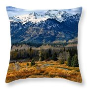 Autumn In The Tetons Throw Pillow