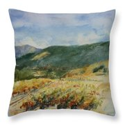 Harvest Time In Napa Valley Throw Pillow