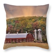 Autumn In Wellsboro Throw Pillow
