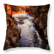 Autumn In West Paris Throw Pillow by Bob Orsillo