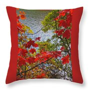 Autumn Lake Throw Pillow