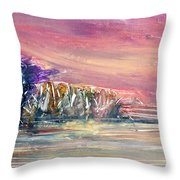 Autumn Landscape Throw Pillow by Janet Gunderson