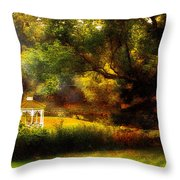 Autumn - Landscape - Past And Present Throw Pillow