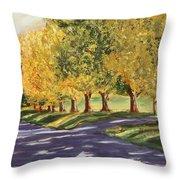 Autumn Lane Throw Pillow