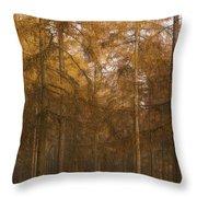 Autumn Larch Throw Pillow