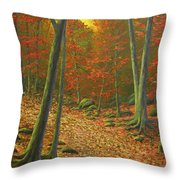 Autumn Leaf Litter Throw Pillow