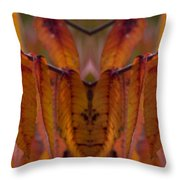 Autumn Leaves 03 Mirror Image Throw Pillow