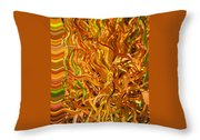 Autumn Leaves 5 - Abstract Photography - Manipulate Images Throw Pillow