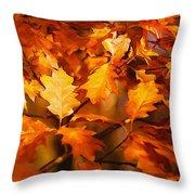 Autumn Leaves Oil Throw Pillow