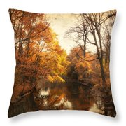 Autumn Lingers Throw Pillow