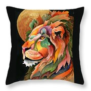 Autumn Lion Throw Pillow