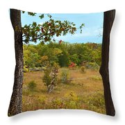 Autumn Look Out Throw Pillow