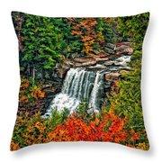 Autumn Magic Paint Throw Pillow