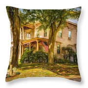 Autumn Mansion 4 - Paint Throw Pillow