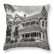 Autumn Mansion Bw Throw Pillow