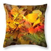 Autumn Masquerade Throw Pillow by Martin Howard