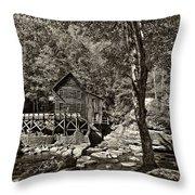 Autumn Mill 2 Sepia Throw Pillow