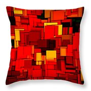 Autumn Modern Abstract Xv Throw Pillow